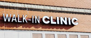 Walk-In Clinic Stock Image