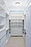 Walk-in closet Royalty Free Stock Photo