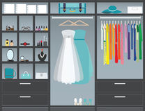 Walk in closet Royalty Free Stock Photography