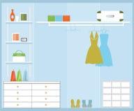 Walk in closet. Stock Images