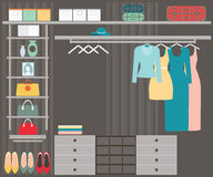 Walk in closet Stock Photography