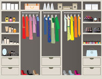 Walk in closet11. Stock Photography