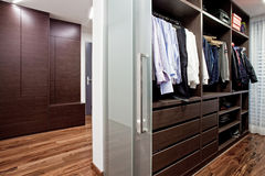 Walk-in closet in the hallway Stock Photography