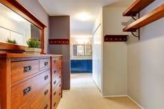 Walk-in closet interior Royalty Free Stock Image