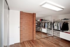 Walk-in closet. In the modern house stock photography
