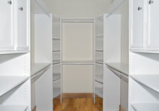 Walk in Closet Organizers royalty free stock photography