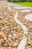Walk the cobbled garden Stock Photos