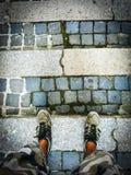 Walk on cobblestone Stock Photos