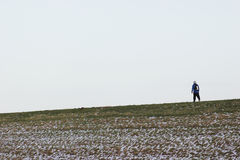 A walk in cold weather Royalty Free Stock Photography