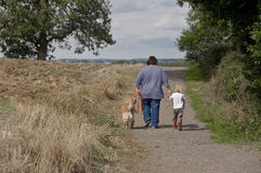 Walk in the country Royalty Free Stock Photo