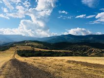 Walk in the Crimean mountains. Beautiful view , Incredible mountains.The game of colors and light and shadows closer to sunset Stock Photography