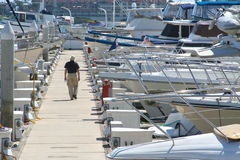 Walk on the dock. Stock Photography