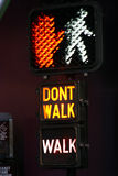 Walk/Don't Walk Stock Photo