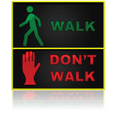Walk and don't walk Stock Images