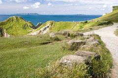 Walk Down To The Jurassic Coast Stock Images