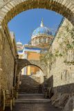 The island of Syros. Walk in Ermoupolis of Syros island Royalty Free Stock Photo