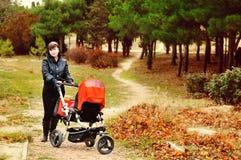Walk in park Stock Image
