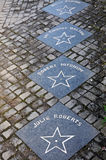 Walk of fame. In Dingle, a town at the coast of ireland there is this special walk of fame in front of a small pub Royalty Free Stock Photos