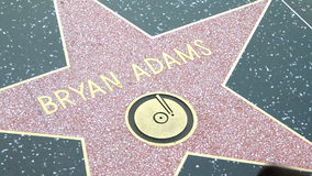 Walk of Fame Bryan Adams. HOLLYWOOD - MARCH 2: Bryan Adams's star at the Walk of Fame on March 2, 2012