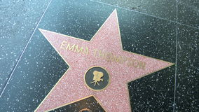 Walk of Fame Emma Thompson Royalty Free Stock Images