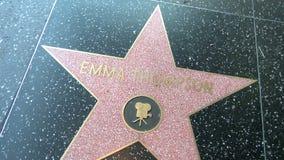 Walk of Fame Emma Thompson. HOLLYWOOD - MARCH 2: Emma Thompson's star at the Walk of Fame on March 2, 2012