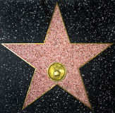 The walk of fame empty star Stock Photography