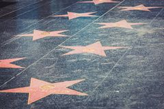 Walk of Fame in Hollywood Royalty Free Stock Photography