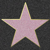 Walk Of Fame, illustration. Illustration of a blank star on the Walk Of Fame Stock Photo