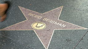 Walk of Fame Ingrid Bergman Royalty Free Stock Images