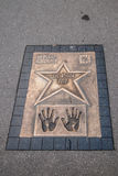 Walk of fame with Luc Besson plate in Krakow Royalty Free Stock Photos
