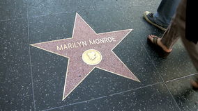 Walk of Fame Marilyn Monroe Stock Image