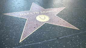 Walk of Fame Marilyn Monroe. HOLLYWOOD - MARCH 2: Marilyn Monroe's star at the Walk of Fame on March 2, 2012. 2012 is the 50th anniversary of Monroe's death on