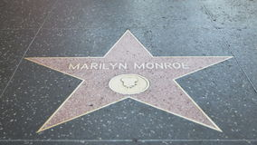 Walk of Fame Marilyn Monroe Royalty Free Stock Photography