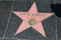 Walk of Fame, martin scorsese Stock Image