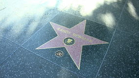 Walk of Fame Randy Newman. HOLLYWOOD - MARCH 2: Randy Newman's star at the Walk of Fame on March 2, 2012