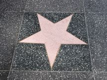 Walk of fame star Stock Photo