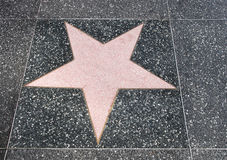 Walk of fame star Stock Image