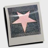 Walk of fame star. Polaroid illustration of California landmark symbol Stock Image