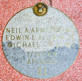 Walk of fame star of Apollo 11 Royalty Free Stock Photography