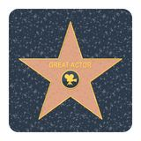 Walk of fame star Royalty Free Stock Photos