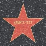 Walk of fame star on granite floor. Vector illustration. Stock Photo