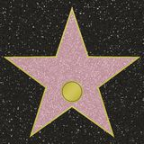 Walk Of Fame Star. Hollywood Walk Of Fame star hi-res template Royalty Free Stock Photo