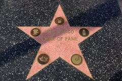 Walk of fame star on the Hollywood Walk of Fame. LOS ANGELES, USA - JANUARY 23, 2014: Walk of fame star on the Hollywood Walk of Fame on January 23, 2014 in Los Royalty Free Stock Photos