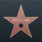 Walk of fame star illustration. Famous reward symbol. Achievement of actor celebrity. Royalty Free Stock Photos