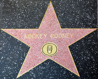 Walk of fame star of Mickey Rooney Royalty Free Stock Photography