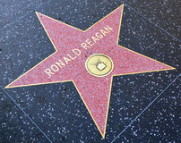 Walk of fame star of Ronald Reagan Stock Images