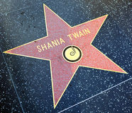 Walk of fame star of Shania Twain Stock Images