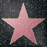 Walk of fame star. Star hollywood. Vector illustration Stock Image