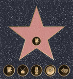 Walk of Fame. Vector illustration Royalty Free Stock Image