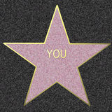 Walk Of Fame, YOU illustration. Illustration of a star on the Walk Of Fame Royalty Free Stock Image